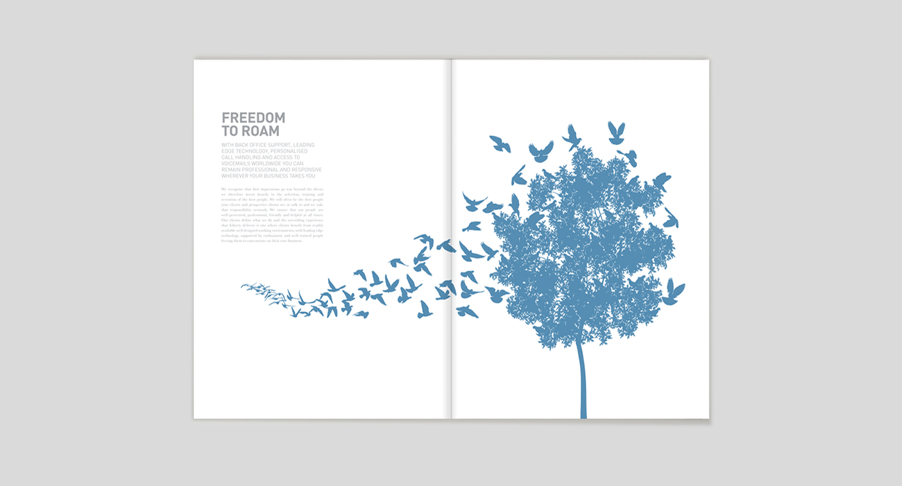 Liberty brochure spread
