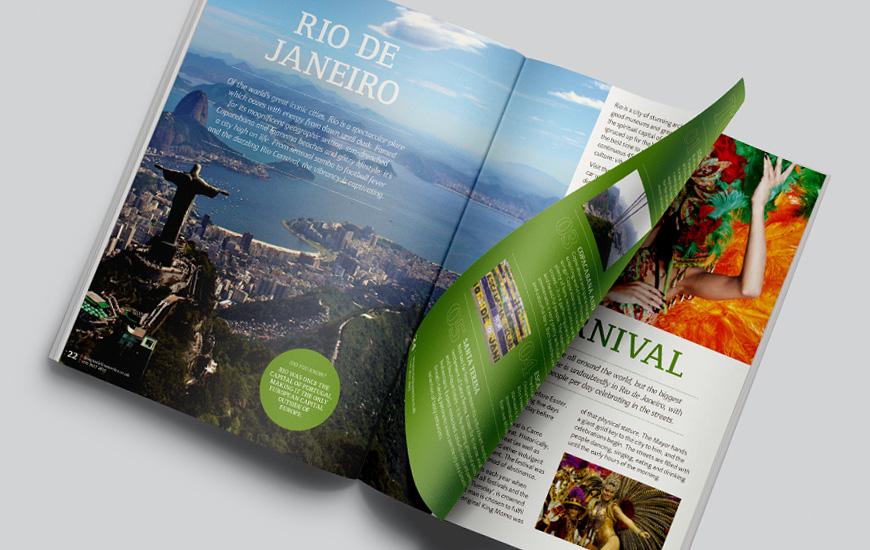 guidebook spread