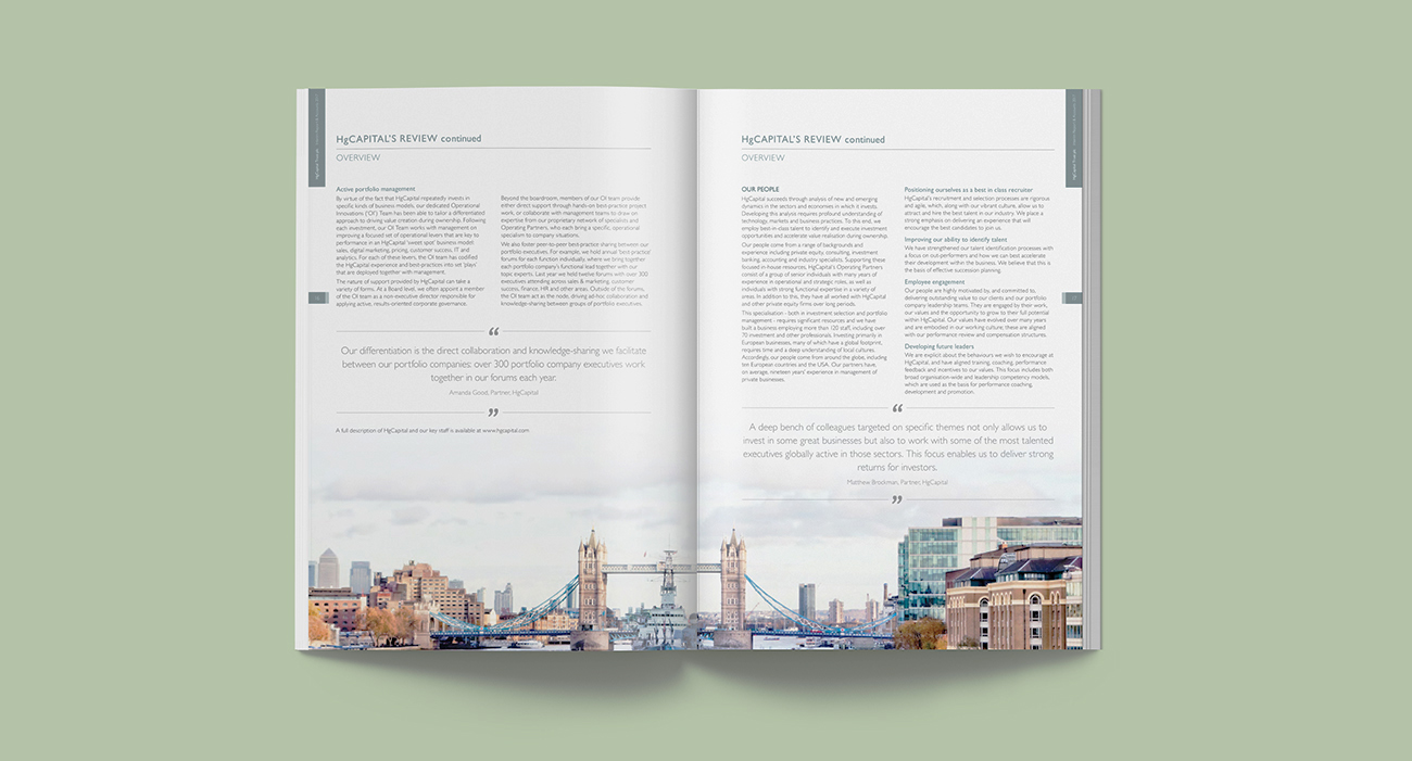HG Capital Annual Reports
