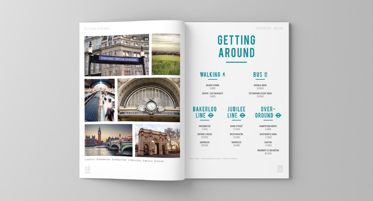 Quadrant brochure spread